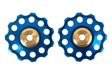 ice galets de derailleur bleu x2 9 10v