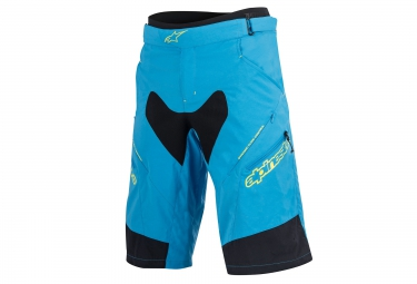 alpinestars short drop 2 bleu jaune