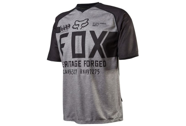 fox maillot manches courtes indicator grey