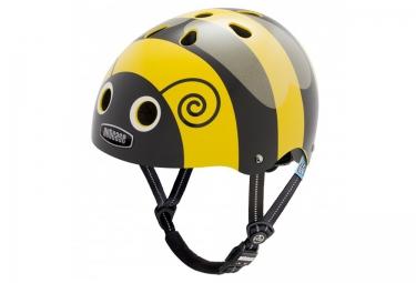 casque bol enfant nutcase little nutty noir jaune