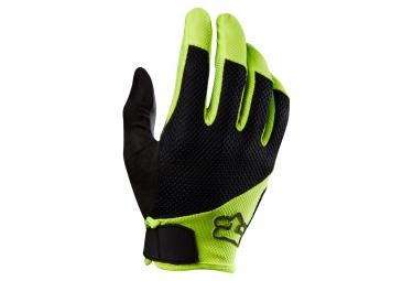 fox paire de gants longs reflex gel noir jaune