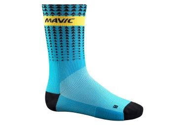 mavic 2016 paire de chaussettes haute route edition bleu noir