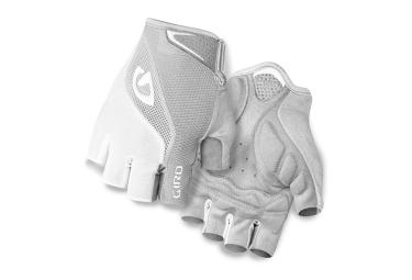 giro paire de gants bravo gel blanc argent