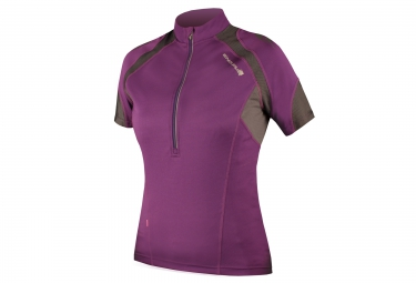 maillot manches courtes femme endura hummvee violet