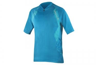 maillot manches courtes endura singletrack lite bleu