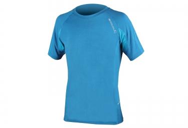 maillot manches courtes endura singletrack lite wicking bleu