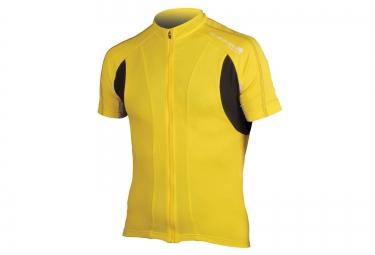 maillot manches courtes endura fs260 pro ii jaune