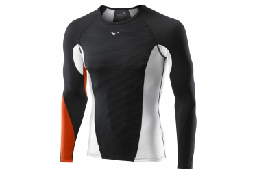 mizuno maillot virtual body g1 noir orange homme