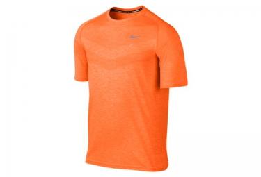 nike maillot dri fit knit orange homme