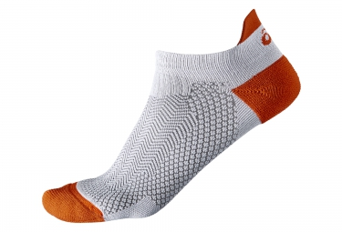 chaussettes asics cooling st blanc orange