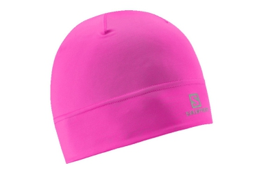 salomon bonnet active rose fluo