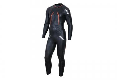 combinaison neoprene 2xu wetsuit race noir orange