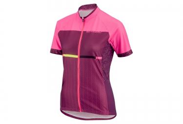 maillot manches courtes femme louis garneau equipe gt series 2016 rose