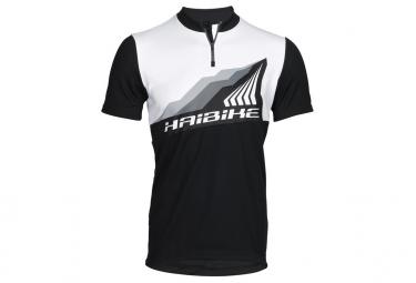 maillot manches courtes haibike all mountain noir blanc