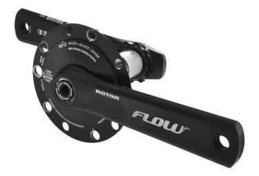 pedalier avec capteur de puissance rotor inpower flow mas entraxe 130 mm noir