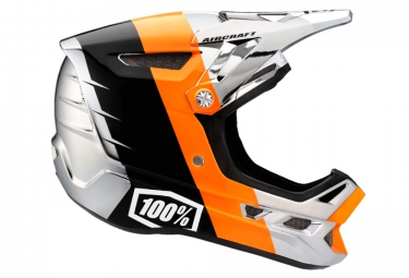 casque integral 100 aircraft r8 chrome orange