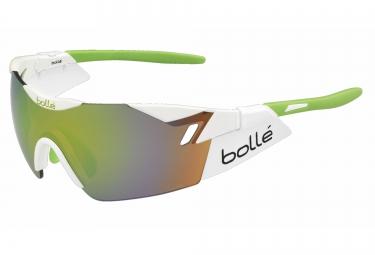 lunette cyclisme bolle 6th sense blanc vert vert
