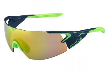lunettes cyclisme bolle 5th element pro bleu vert vert