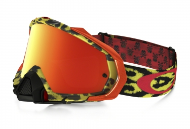 masque oakley mayhem pro mx troy lee design jaune jaune iridium ref oo7051 26
