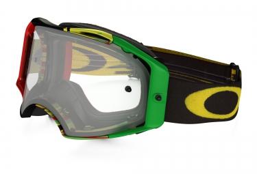 masque oakley airbrake mx rasta transparent ref oo7046 35