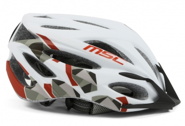 casque msc mtb inmold blanc rouge