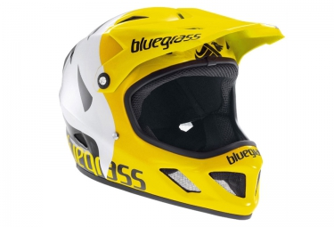 casque integral bluegrass brave jaune blanc