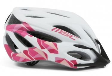 casque msc mtb inmold blanc rose