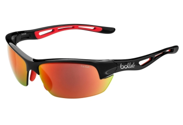 lunettes bolle bolt s noir rouge rouge
