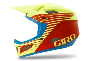 casque integral giro cipher rouge jaune