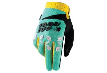 gants longs 100 airmatic vert jaune