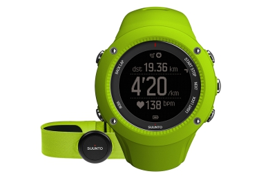 suunto montre gps ambit3 run hr lime ceinture cardiaque smart sensor