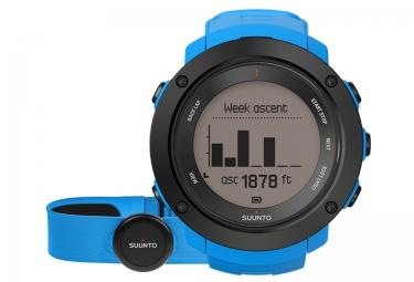 suunto montre gps ambit3 vertical hr bleu ceinture cardiaque smart sensor