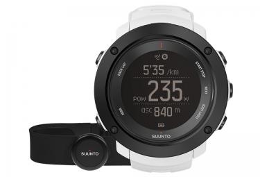 suunto montre gps ambit3 vertical hr blanc ceinture cardiaque smart sensor