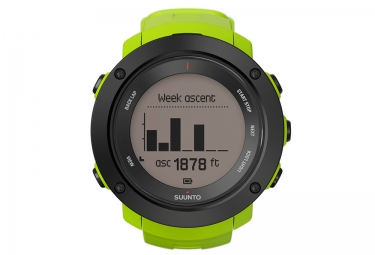 suunto montre gps ambit3 vertical lime