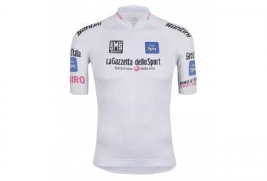 maillot manches courtes santini giro d italia 2016 jeune blanc