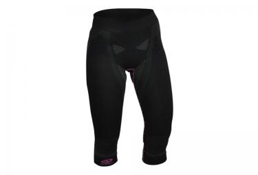 cuissard 3 4 femme bv sport nature 3r noir rose