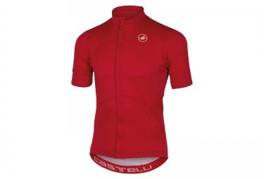 maillot manches courtes castelli imprevisto rouge