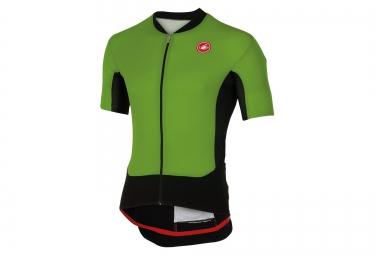 maillot manches courtes castelli rs superleggera vert