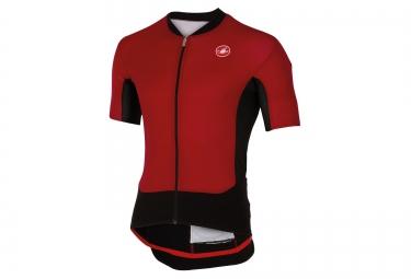 maillot manches courtes castelli rs superleggera rouge