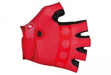 gants courts castelli trofeo rouge