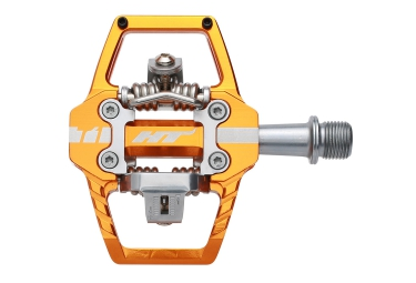 ht paire de pedales automatiques t1 orange