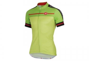 maillot manches courtes castelli velocissimo vert