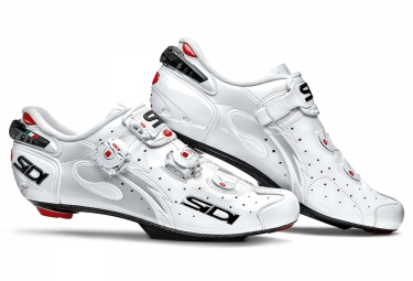 chaussures route sidi wire carbon blanc verni