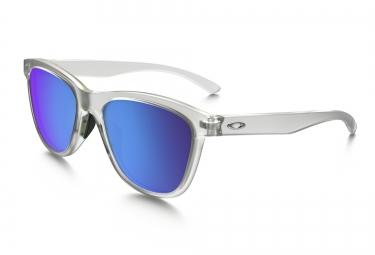 lunettes femme oakley moonlighter transparent bleu iridium ref oo9320 03