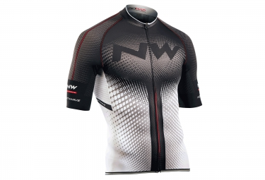 maillot manches courtes northwave extreme blanc noir