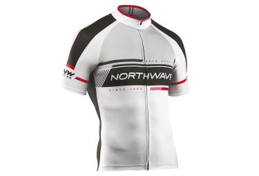 northwave maillot manches courtes logo 2 blanc noir