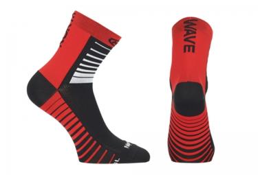 paire de chaussettes northwave sonic noir rouge