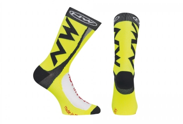 chaussettes northwave extreme tech plus jaune fluo