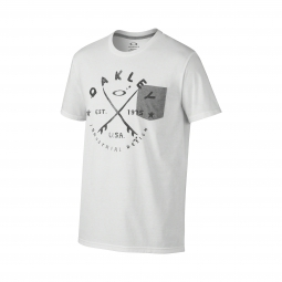 t shirt oakley stoked blanc