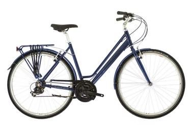 velo de ville raleigh pioneer low step shimano revo 18v bleu